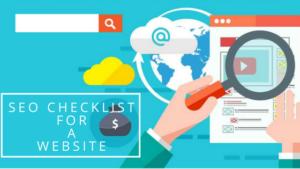seo checklist for website | skillzlearn